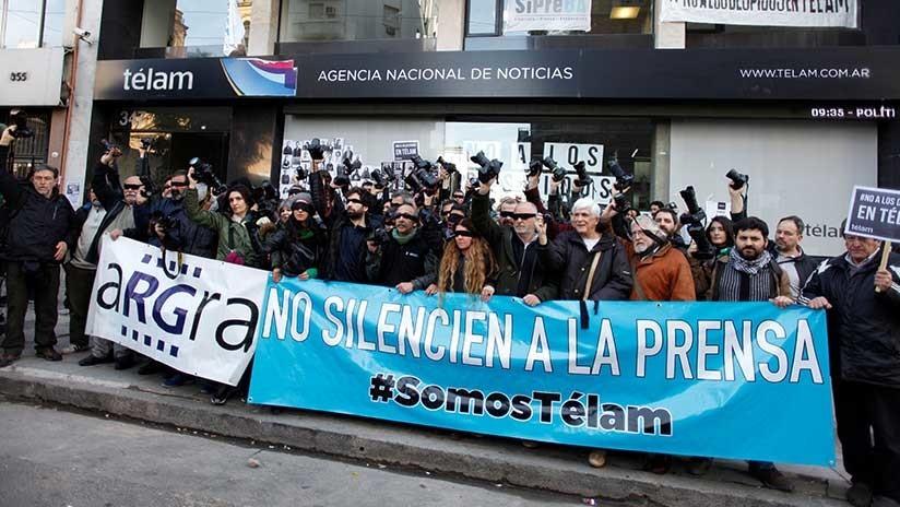 Movilización en Argentina a más de 70 días de conflicto en la Agencia Télam