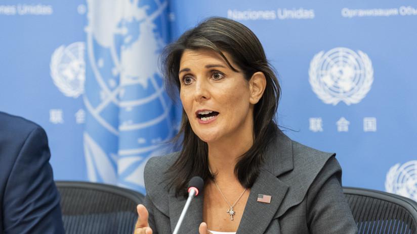 Embajadora de EE.UU. ante la ONU advierte que responderán en caso de ataque químico en Idlib