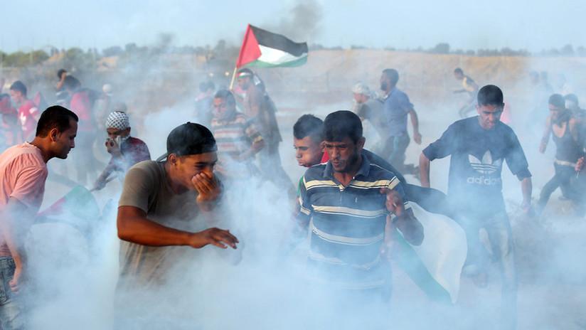 VIDEOS: Un adolescente muerto y centenares de heridos en protestas en Gaza