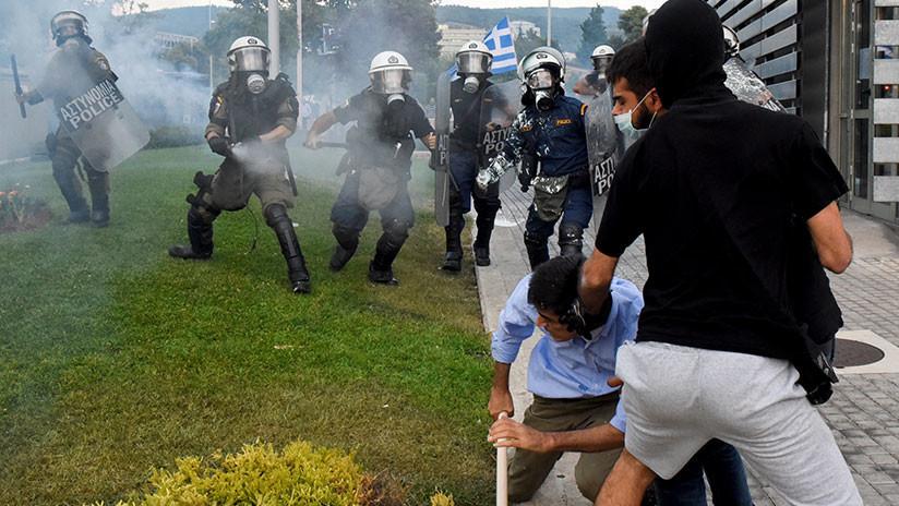 VIDEO: Violentas manifestaciones en Grecia contra la propuesta de cambiar el nombre de Macedonia