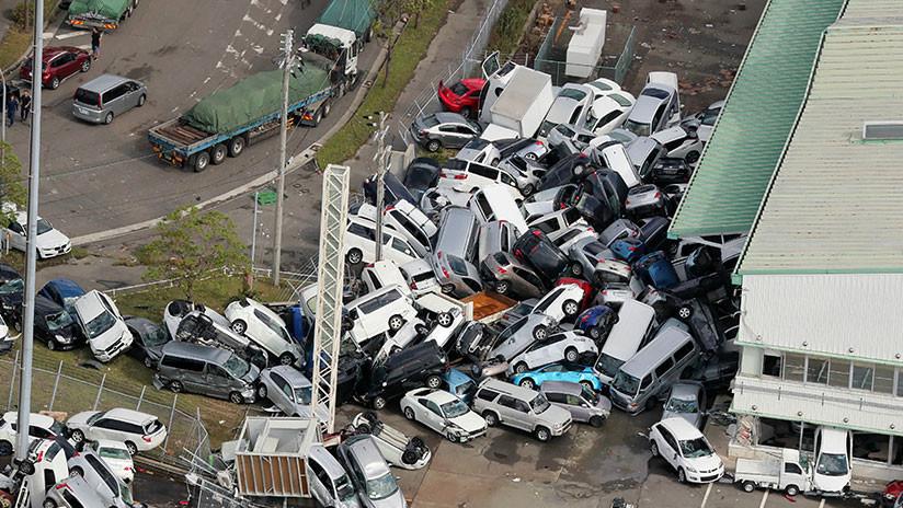 Japón: Las catastróficas consecuencias del tifón más potente en 25 años (en 5 imágenes)