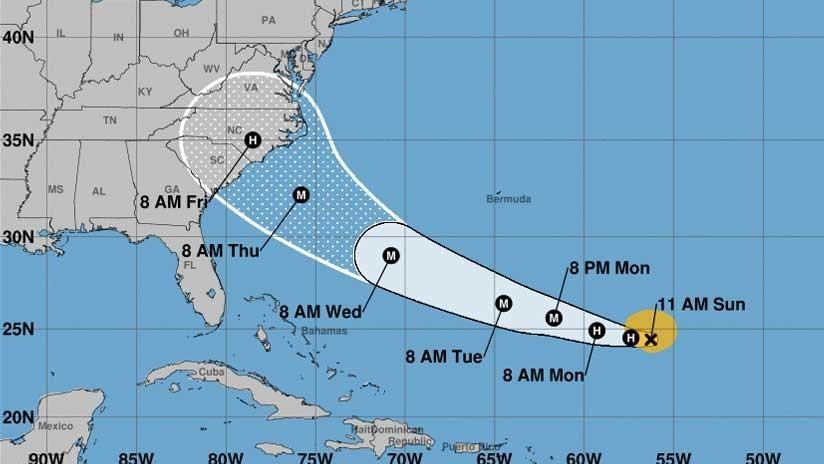 Florence se convierte en huracán y se dirige rumbo a EE.UU.