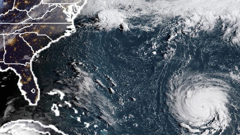 VIDEO: Así luce desde el espacio el ojo del poderoso huracán Florence