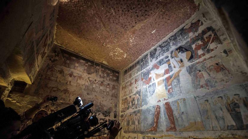 FOTOS: Abren por primera vez al público la cripta de un visir egipcio de 4.000 años de antigüedad
