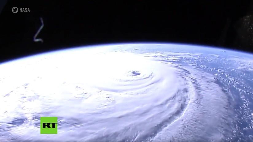 VIDEO: Espectaculares imágenes en alta definición del huracán Florence desde la EEI
