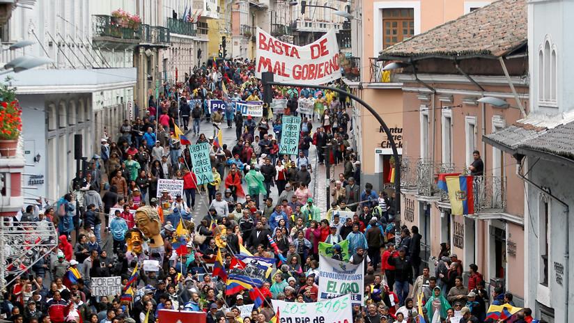Ecuador: Protestan contra políticas de presidente Lenín Moreno en Quito