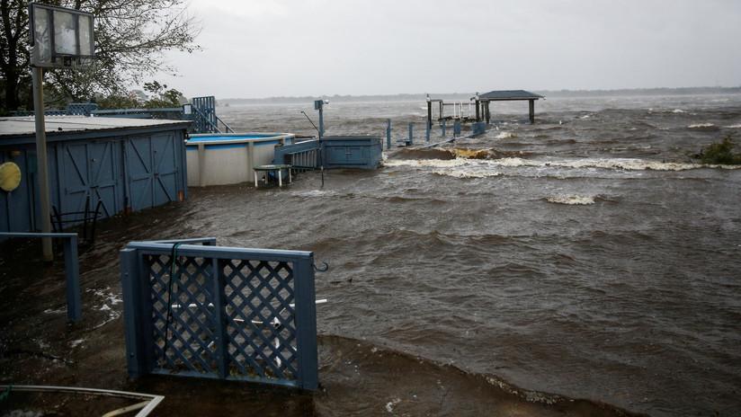 El ojo del huracán Florence, a punto de tocar tierra en Carolina del Norte