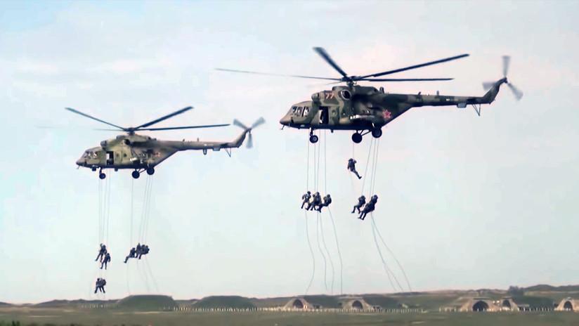 VIDEO: Tropas aerotransportadas rusas en acción durante los ejercicios Vostok-2018