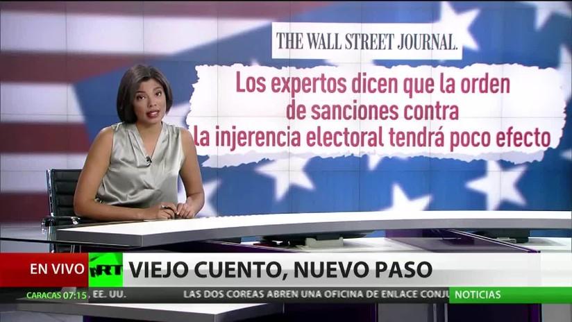 """""""Cálculo del presidente"""": Qué busca Trump con el decreto sobre sanciones por injerencia"""