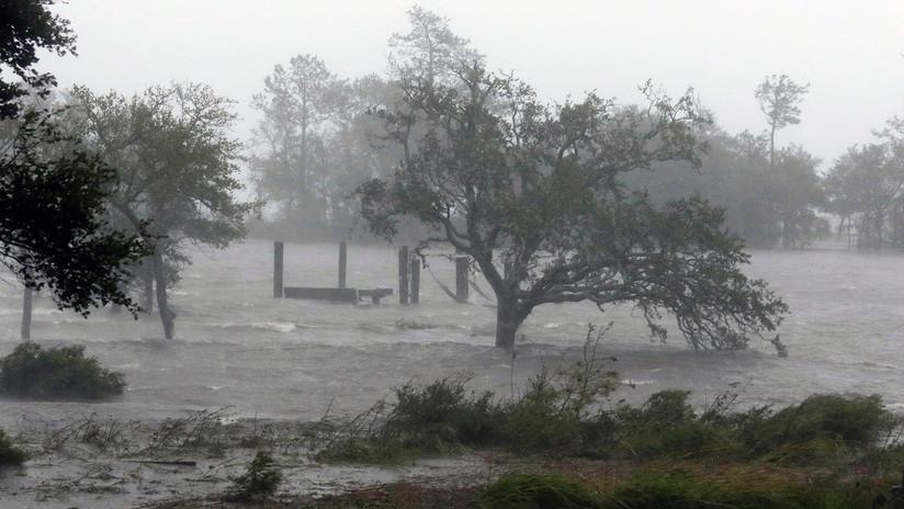 PRIMERAS IMÁGENES: Video desde el interior del huracán Florence