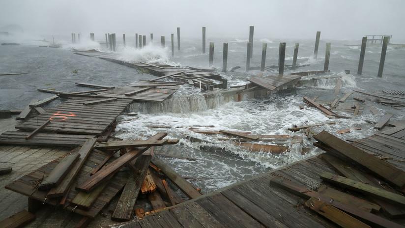 Desde el ojo del huracán: Los videos más impactantes de las destrucciones que ha dejado Florence