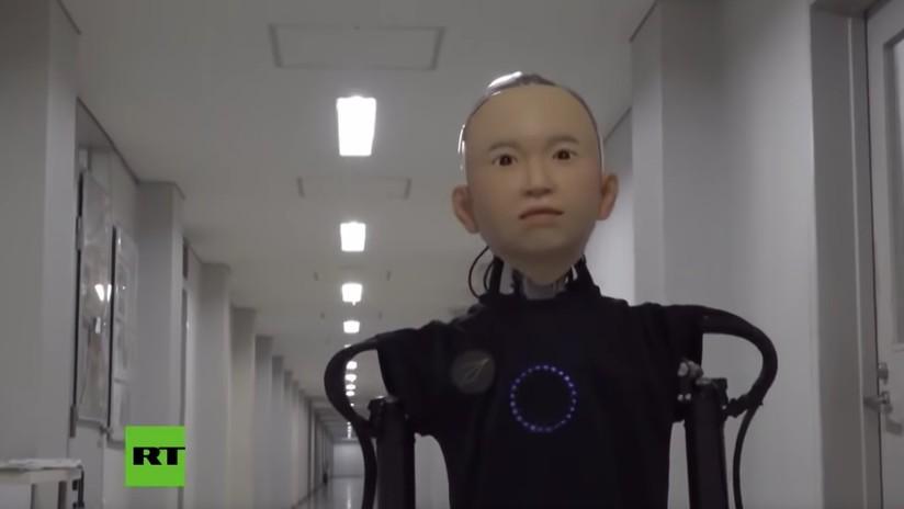 VIDEO: Crean en Japón un androide con cara de niño capaz de expresar emociones