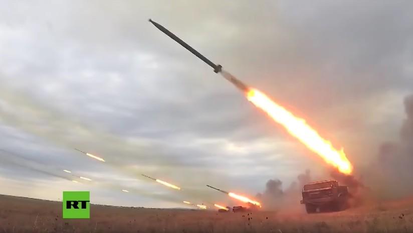 VIDEO: Una salva de Uragán arrasa todo lo que encuentra en ejercicios Vostok-2018