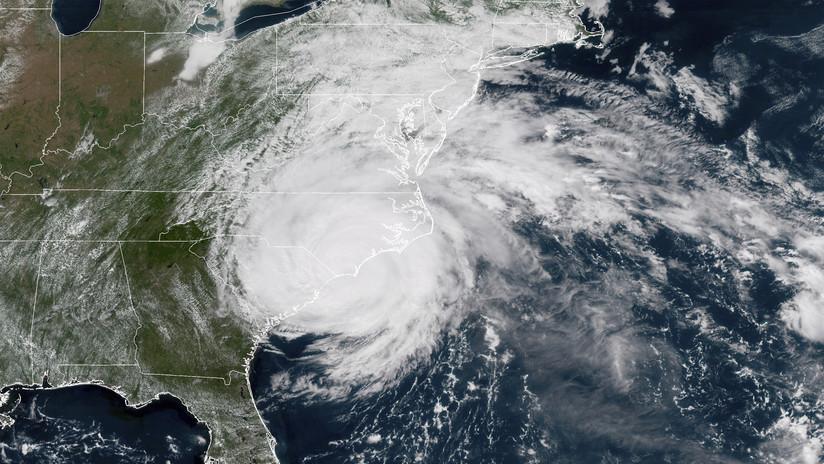 VIDEO: La NASA captura la impresionante llegada del huracán Florence a las costas de EE.UU.