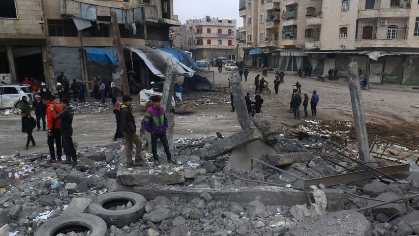 """Rusia: """"Terroristas trasladan contenedores con cloro a Idlib para montaje con armas químicas"""""""