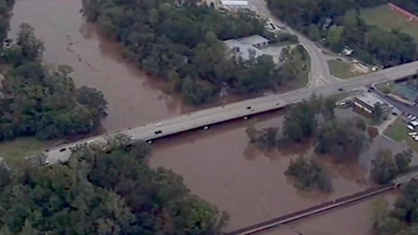 VIDEO: Vista aérea de los daños que dejó el huracán Florence en Carolina del Norte