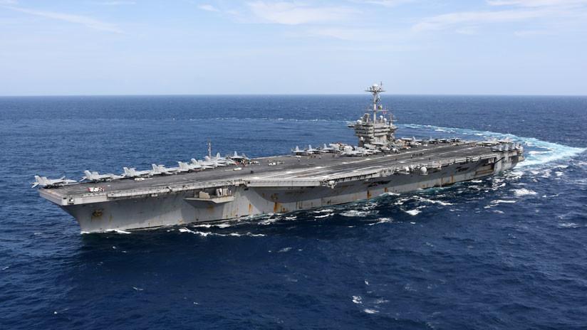 Portaviones USS Harry S. Truman navega con su grupo de ataque en dirección a Europa