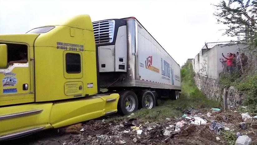 No una, sino dos: Hallan más de 300 cadáveres en las 'morgues móviles' en México (FOTOS, VIDEOS)