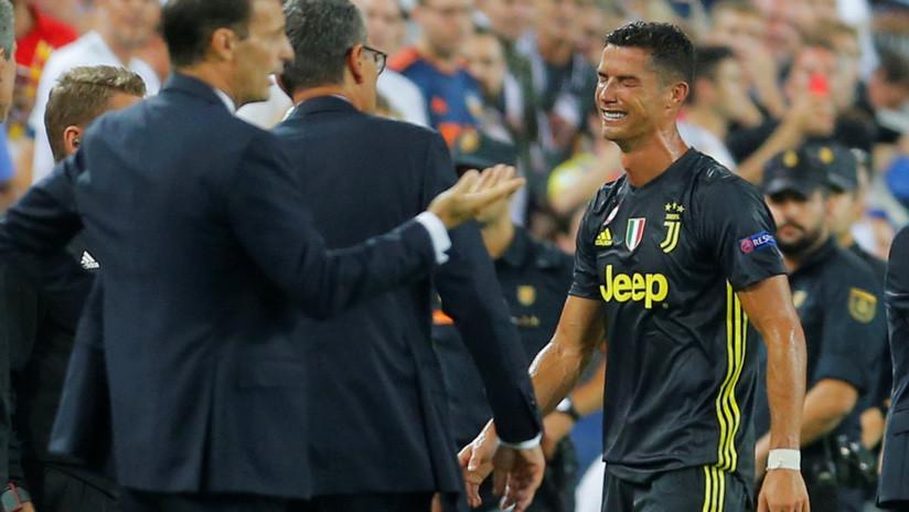 Expulsión de Cristiano Ronaldo en su primer partido en la Champions League con la Juventus