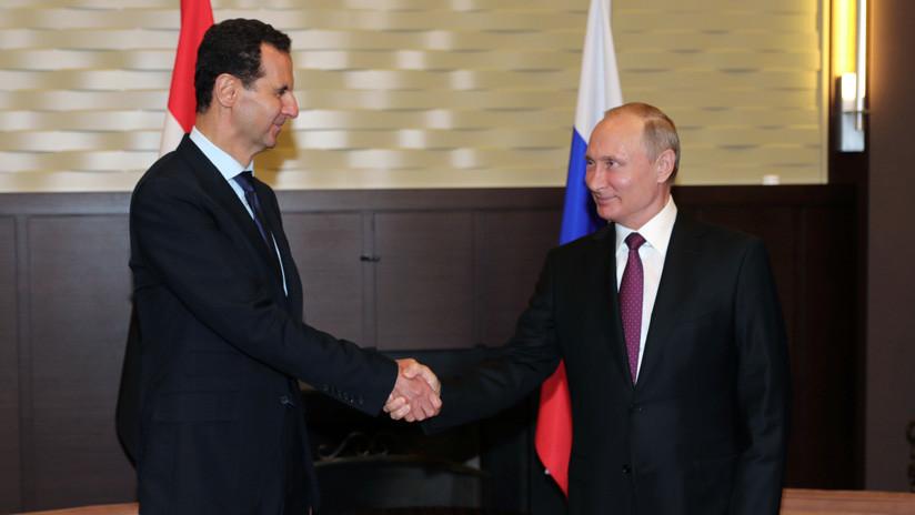 """Assad a Putin: El derribo del Il-20 es el """"resultado de la arrogancia y el desenfreno de Israel"""""""
