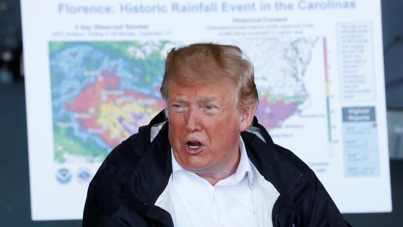 """Trump a una víctima del huracán Florence: """"Al menos conseguiste un buen barco con todo esto"""""""