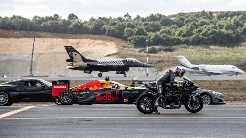 Una carrera con todo tipo de rivales, desde motos hasta aviones — Vídeo