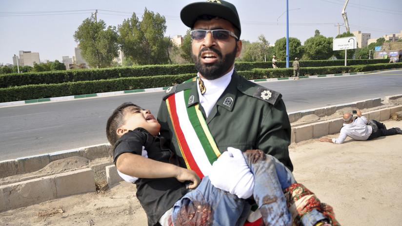 Las imágenes que deja el ataque terrorista contra un desfile en Irán