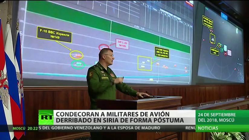 Condecoran a título póstumo a los 15 militares del avión Il-20 ruso derribado en Siria