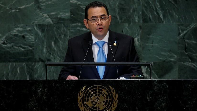 """""""Amenaza para la paz"""": Jimmy Morales acusa a la CICIG de """"montar un sistema de terror"""" en Guatemala"""
