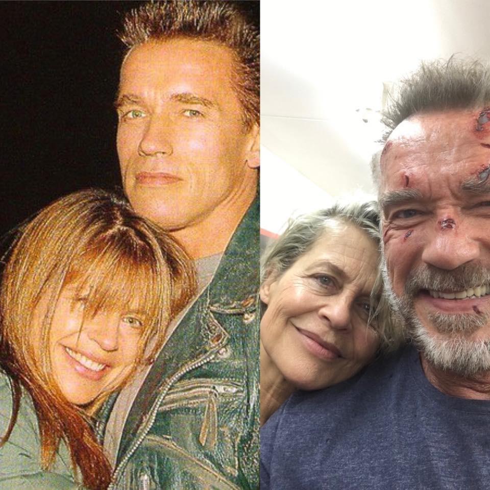Schwarzenegger comparte emotiva foto con Linda Hamilton