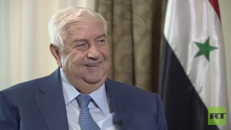 El ministro de Exteriores de Siria, Walid Muallem.