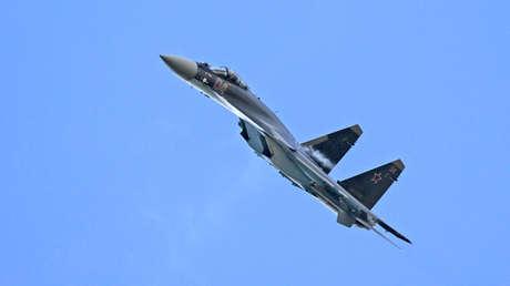 Un caza ruso Su-35.