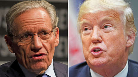 Bob Woodward y Donald Trump.