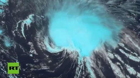 El huracán Florence, el 9 de septiembre de 2018