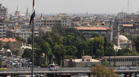 Imagen tomada en septiembre de 2012 , muestra una panorámica de la ciudad de Damasco en Siria.