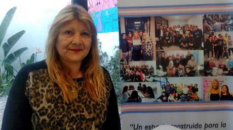 Marcela Romero en la Casa Trans de la Ciudad de Buenos Aires.