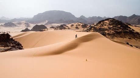 Overview of the Sahara desert.