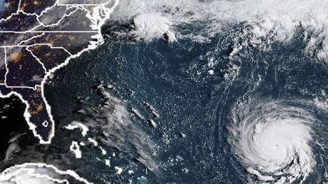 Foto satelital del huracán Florence, el 9 de septiembre de 2018.