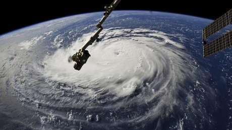 El huracán Florence visto desde el espacio, el 10 de septiembre de 2018.