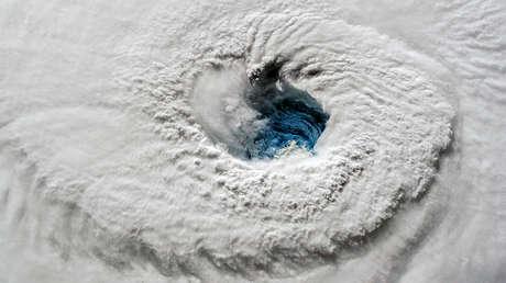 El huracán Florence en el océano Atlántico, visto desde la Estación Espacial Internacional.