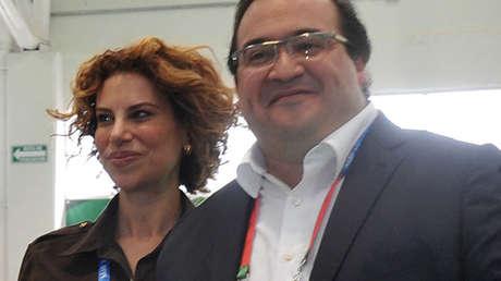 El exgobernador de Veracruz, Javier Duarte, y su esposa, Karime Macías. Veracruz, México, 12 de noviembre de 2014.
