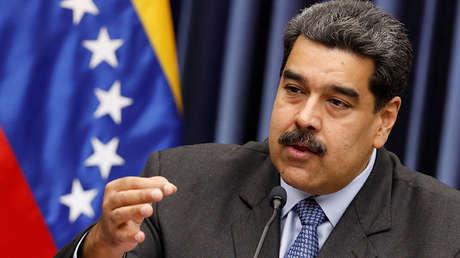 Presidente Nicolás Maduro durante conferencia de prensa en el Palacio de Miraflores, en Caracas, Venezuela, el 18 de septiembre de 2018.
