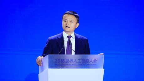 Jack Ma durante una conferencia en Shanghái, China, 17 de septiembre de 2018.