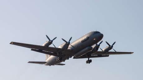 Despegue de un Il-20 ruso, Rostov del Don, Rusia, 6 de marzo de 2014.