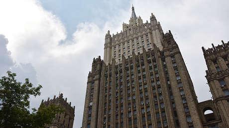 El edificio del Ministerio de Asuntos Exteriores de Rusia.
