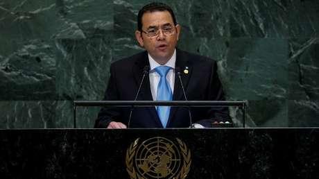 El presidente de Guatemala, Jimmy Morales, en Nueva York (EE.UU.), el 25 de septiembre de 2018