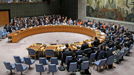 Consejo de Seguridad de Naciones Unidas en Nueva York, EE.UU., 26 de septiembre de 2018.