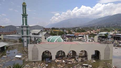 Ruinas de una mezquita en Palu (Célebes Central, Indonesia) tras un terremoto y tsunami, el 29 de septiembre de 2018.