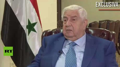 El ministro de Asuntos Exteriores de Siria, Walid Muallem.
