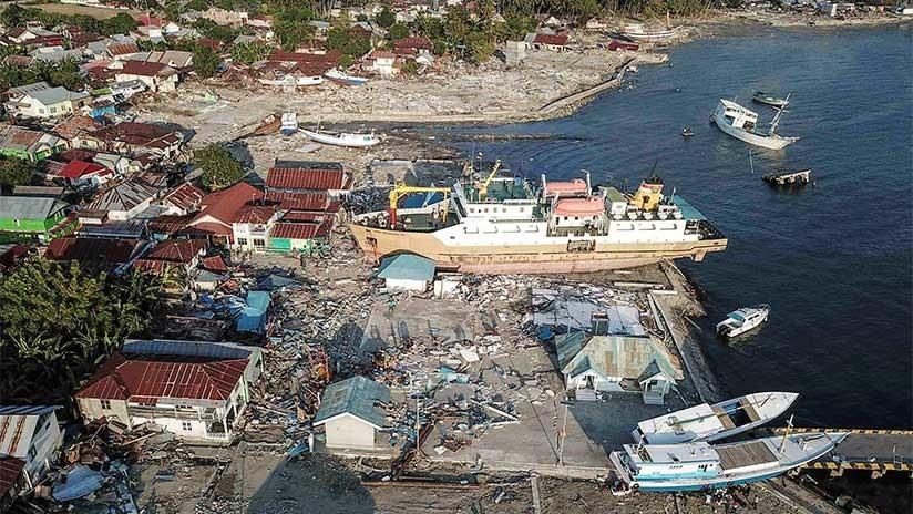 VIDEO: Dron registra las devastadoras consecuencias del terremoto y tsunami que sacudieron Indonesia